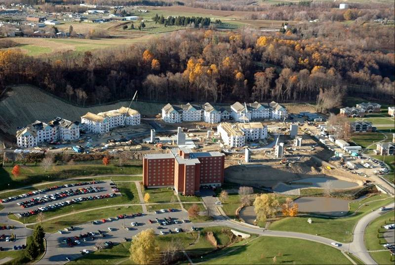 Slippery Rock University Dorms (click to enlarge)